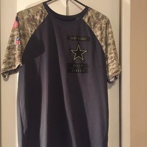 Cowboy NFL salute to service tee shirt